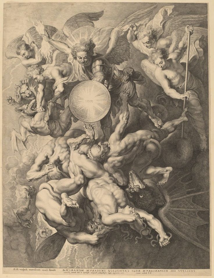 Lucas Emil Vorsterman after Sir Peter Paul Rubens, 'The Fall of the Rebel Angels', 1621