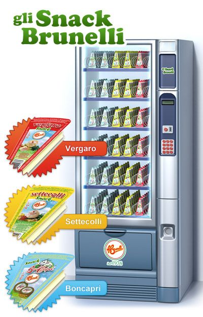 Vergaro, Settecolli, Boncaprì: singoli snack da assaporare in ogni momento della giornata. http://www.brunelli.it/linea-snack