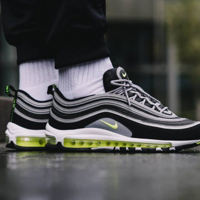Air Max 97 OG Black Volt | Nike, Nike air max, Air max 97
