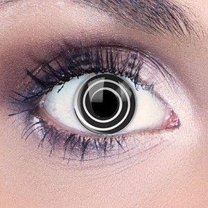 Lentilles de contact couleur spirale noire F15