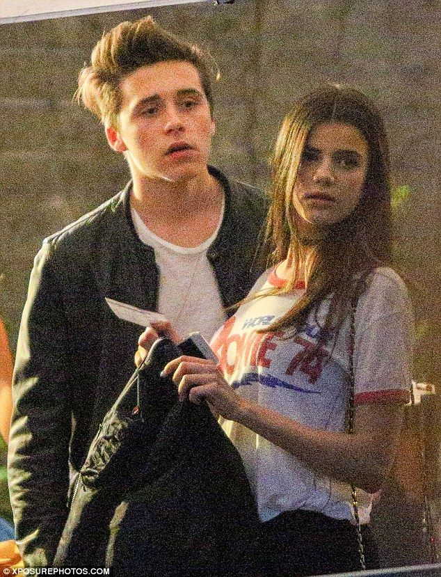 Good genes: While Brooklyn has inherited the Beckham family good looks Sonia is already an established model in France