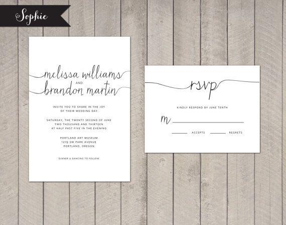 Wedding Invitation modern elegant deposit by GraceandCharmPaperie