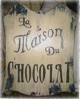 Vintage LA MAISON DU CHOCOLAT Sign French Country Cottage Shabby Paris Chic…