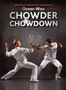 Vancouver Aquarium Ocean Wise Chowder Chowdown takes place every November in Vancouver and Toronto.