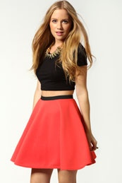 love the very pretty red skirt