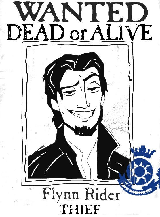Flynn Rider Wanted Poster Happiest