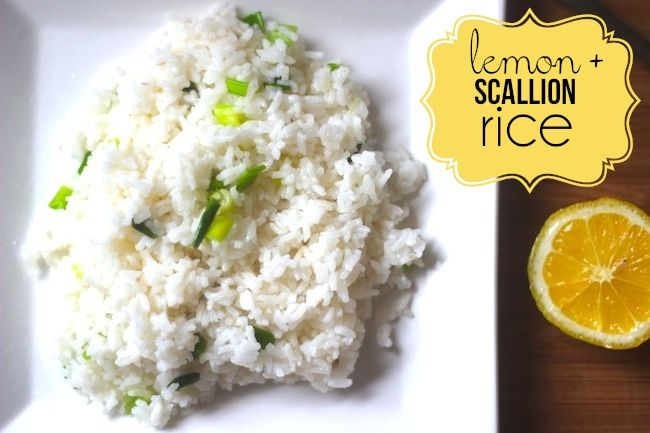 ... Scallion Rice. A play up on Chipotles very popular Cilantro Lime rice