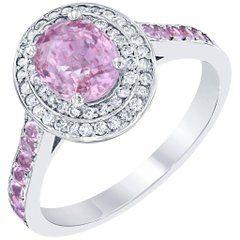 2.20 Carat Pink Sapphire Diamond Ring