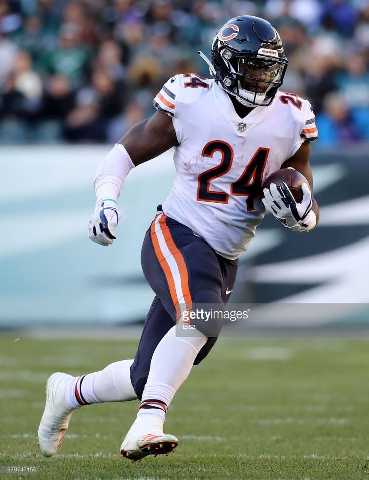 News Photo : Jordan Howard of the Chicago Bears carries the...
