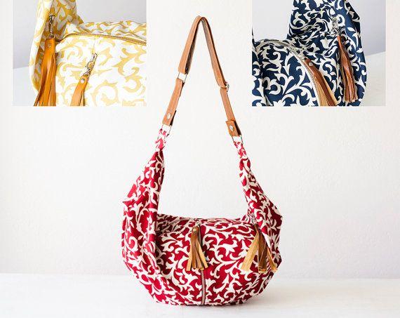Floreale crossbody borsa di tela borsa hobo fiore borsa di milloo