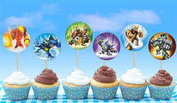 Skylander Cupcake Toppers Instant Download Printable