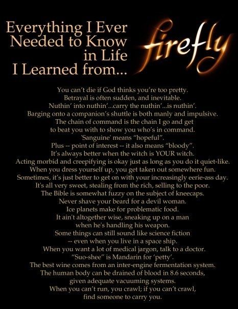 Everything I Ever Needed to Know in Life I Learned from Firefly