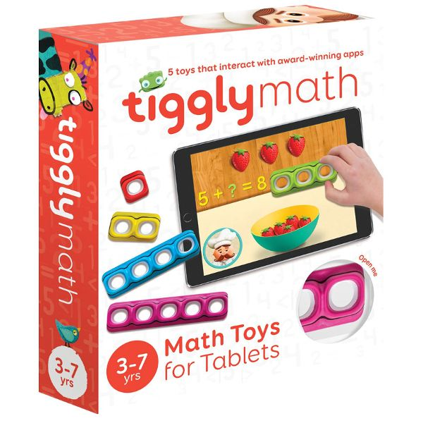 Tiggly Math - Tiggly Math has silicone touch points so your tablet reacts to them just like your fingertips. Tap and the screen reacts. No need for batteries, bluetooth or wifi, the magic is in its simplicity! #math #kids
