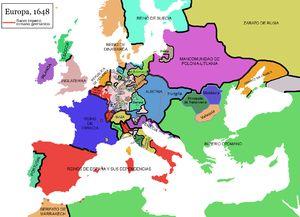 1618 y 1648 - Guerra de los Treinta Años fue una guerra librada en la Europa Central (principalmente Alemania)  en la que intervino la mayoría de las grandes potencias europeas de la época.