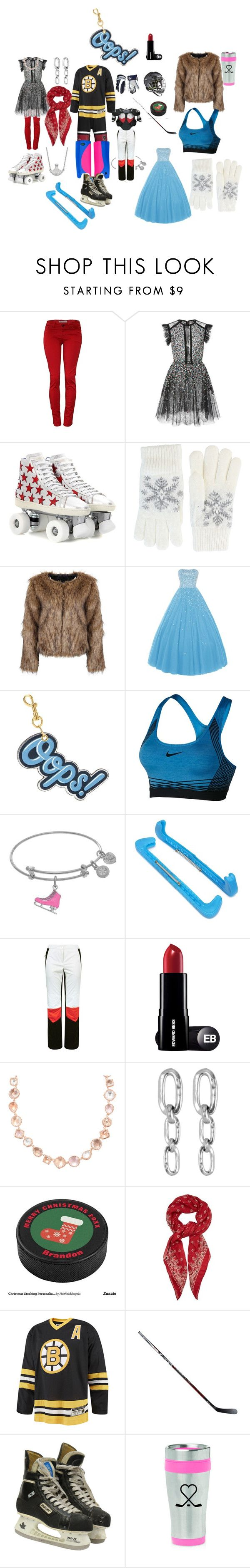 """""""GT ICE"""" by traceymarh on Polyvore featuring Elie Saab, Yves Saint Laurent, Fits, Anya Hindmarch, NIKE, Sportalm, Larkspur & Hawk, Uno de 50, Reebok and Koncept"""