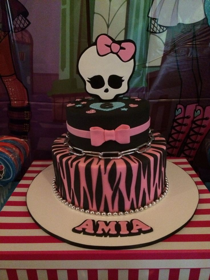 Amia's 6th monster high birthday cake