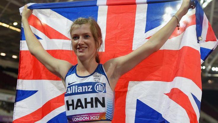 Sophie Hahn after winning gold at London 2017 Para-athletics World Championships