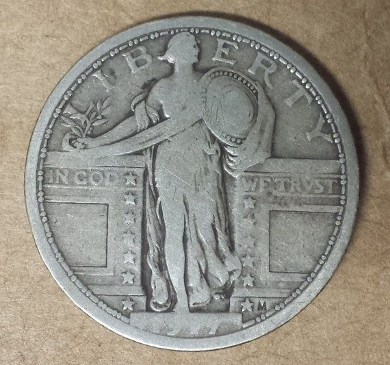 1917 Type 1 Silver Standing Liberty QuarterF by CoinCreativity, $40.00