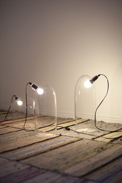 moobshop:    Mari Isopahkala travaille essentiellement le verre et la lumière.  Greenhouse, Mari Isopahkala  Séclairer, chez moob