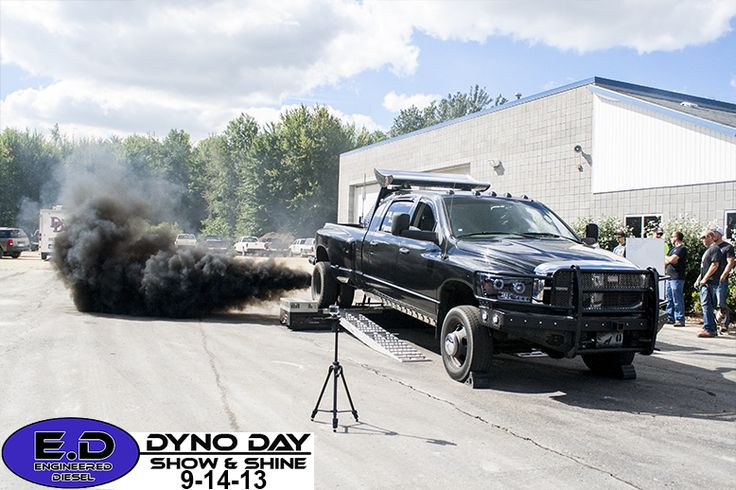 Cummins Dually rollin coal at Engineered Diesel Dyno Day ...