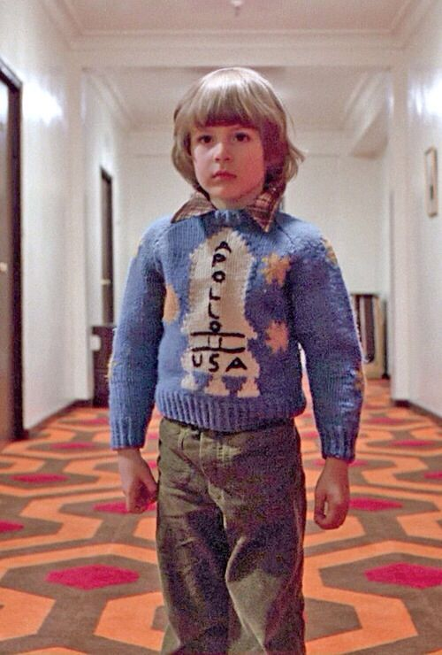 """The Shining. YOU MUST WATCH THE DOCUMENTARY """"Room 237"""" and hear the story behind that sweater and decide if you believe it!"""