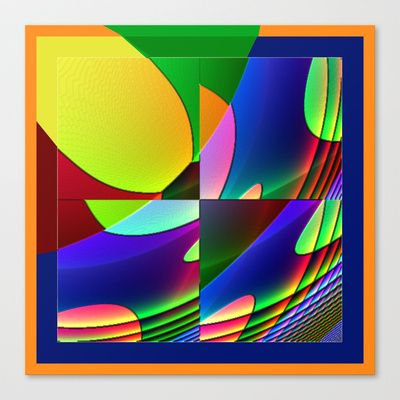 serie qbist # 1 Stretched Canvas by Mittelbach Marenco Florencia - $85.00