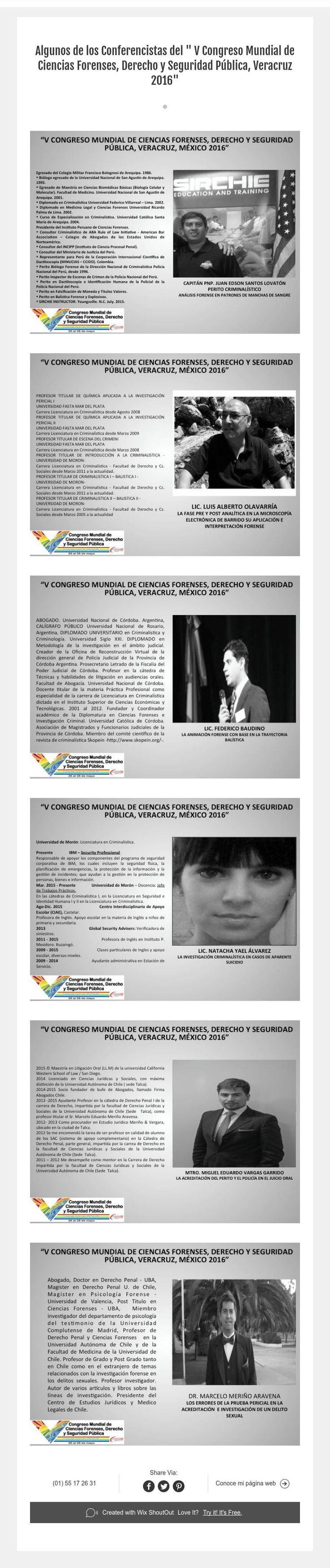 """"""" V Congreso Mundial de Ciencias Forenses, Derecho y Seguridad Pública, Veracruz 2016"""""""