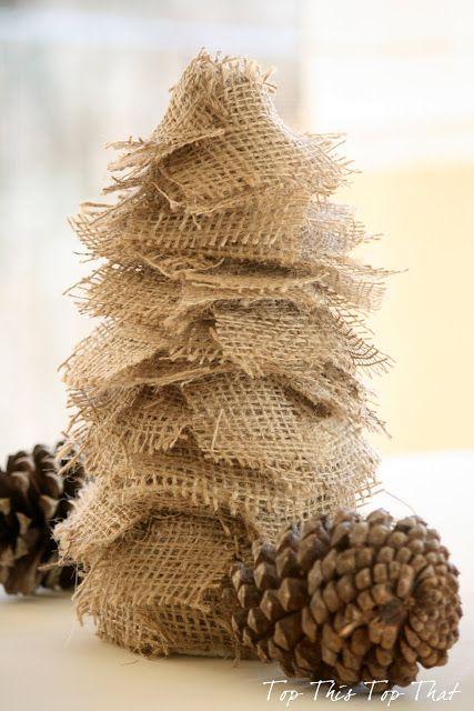 3 Easy DIY Burlap Trees