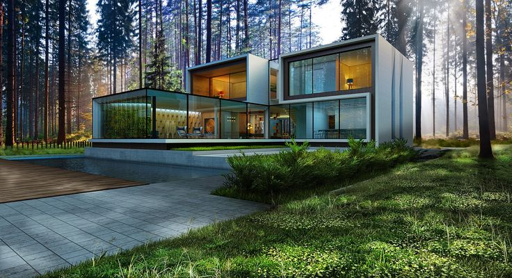 """House96""  370м2/House in the woods/ house in the pine forest"