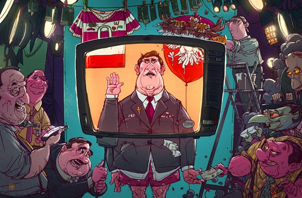 Michal Dziekan, illustration, art, funny,