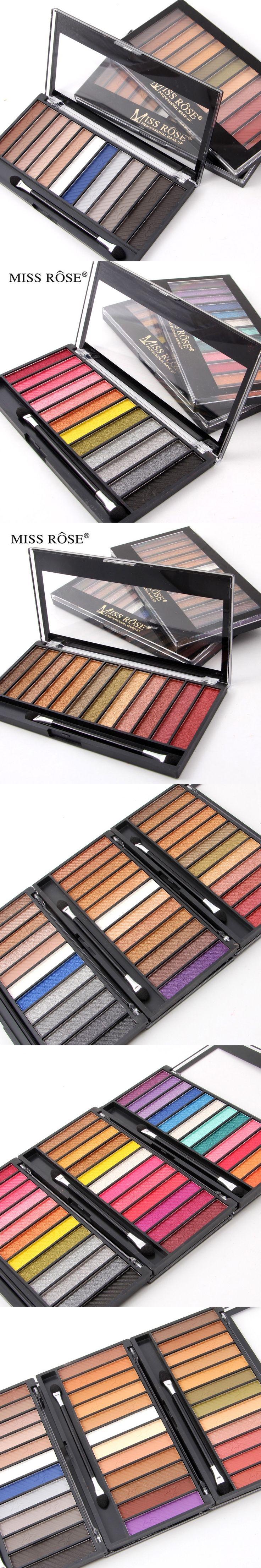 Miss rose 12 colors shimmer&matte eyeshadow palette Easy to Wear Glitter professional beauty eye shadow pallete maquiagem makeup
