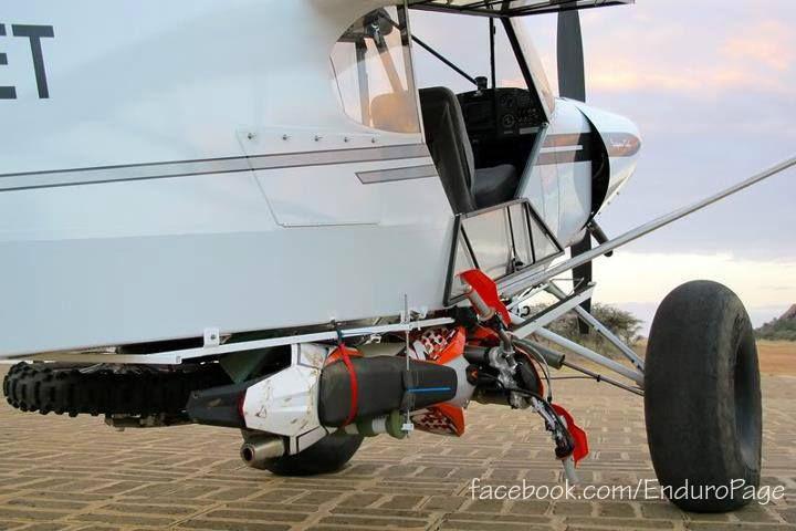 Enduro bike and bush plane.....good combo!