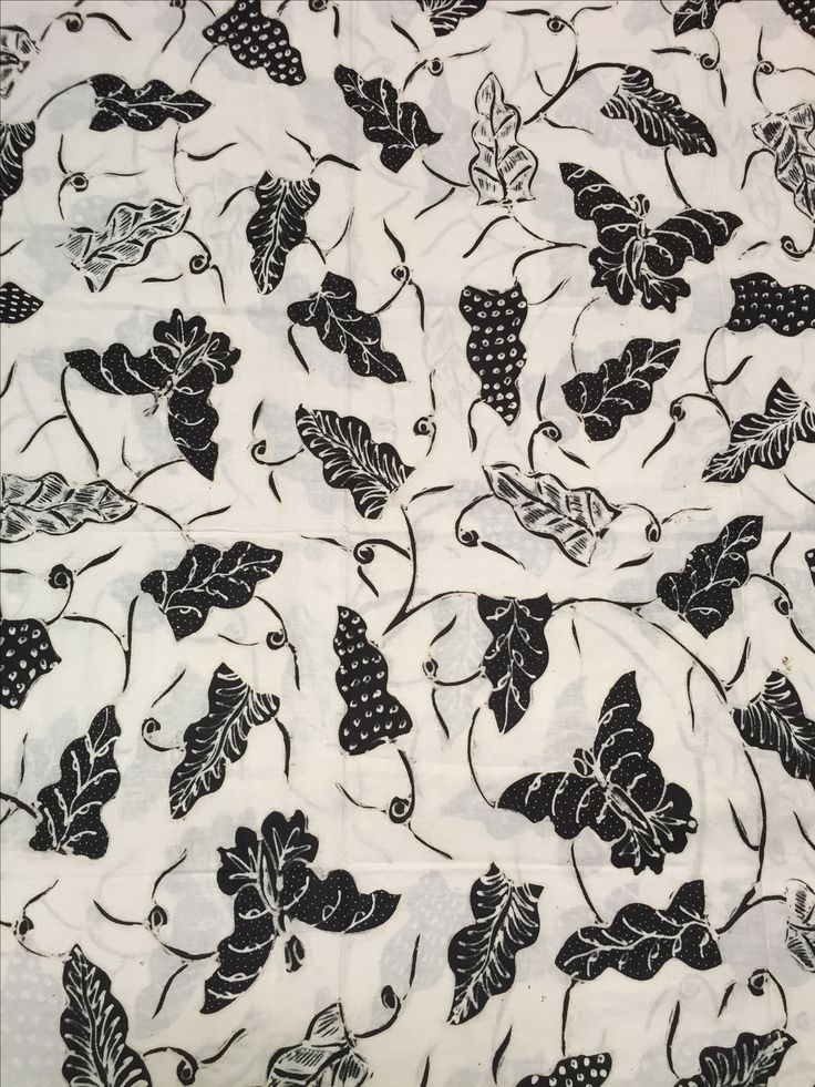 Batik Jogja - keladi-kupu - latar pethak