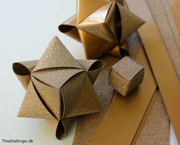 Ide til hvordan man kan folde en alternativ stjerne af stjernestrimler