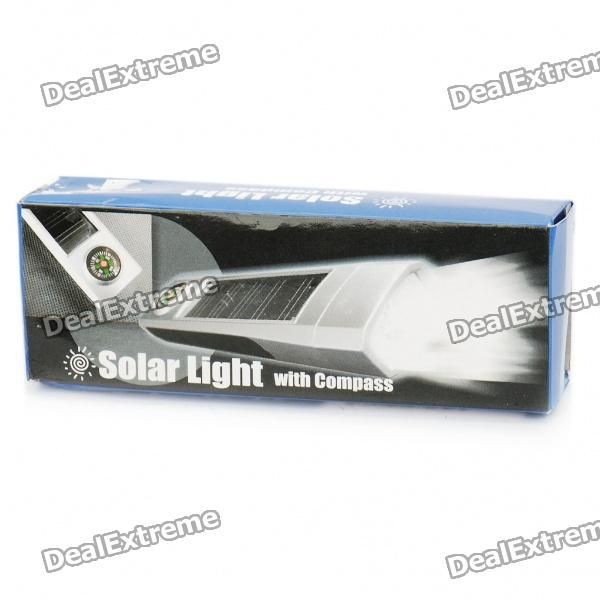 Solar Powered Self-Recharge 5-LED Flashlight with Compass