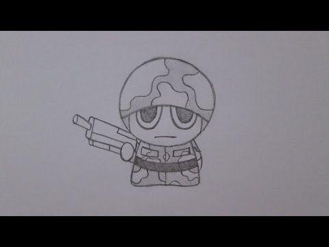 Como desenhar um soldado - YouTube