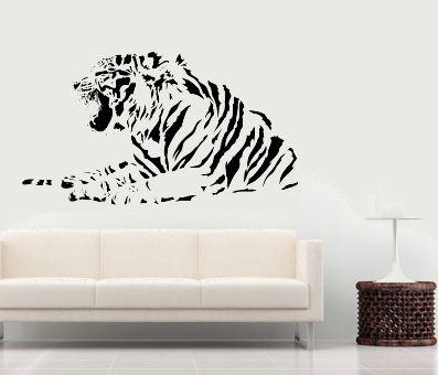 VÄGGDEKOR Liggande tiger