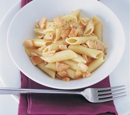 Penne al salmone   Good when fresh