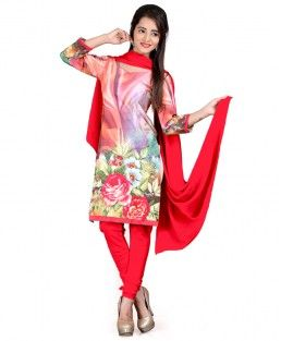 Fabzones Amazing Red Color Designer Salwar Suit
