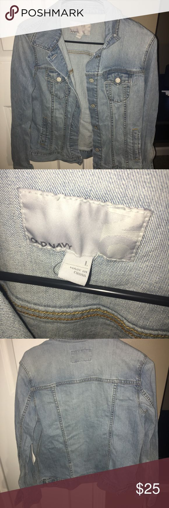 Old Navy Jean Jacket It's a size large jean jacket. Hardly ever worn and unfortunately now it's too big. Still in great condition! Old Navy Jackets & Coats Jean Jackets