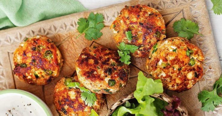 These spicy Indian-style chicken patties are perfect for a mid-week dinner.