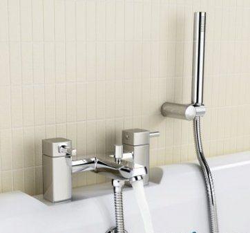 Ivela Bath Mixer Taps with Hand Held Shower Head [PT-TB65] - £99.89 : Platinum Taps & Bathrooms