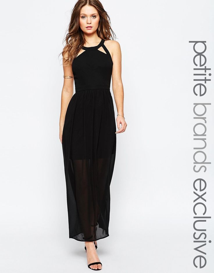 True Decadence Petite Maxi Dress With Lace Up Halter Detail
