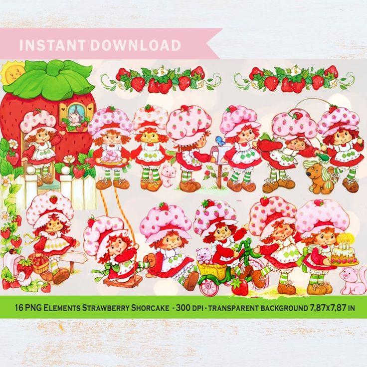 Vintage Strawberry Shortcake 80spng Clipart For Etsy Vintage Strawberry Shortcake Strawberry Shortcake Strawberry Shortcake Invitations