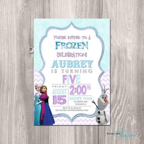 Frozen Birthday Invitation - Frozen Printable Invitation - Frozen Invitation - Frozen Birthday Theme - Disney Frozen Printable Invitation
