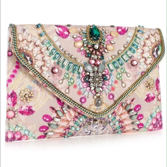 Accessorize Digi Gem Clutch Still on the fence about selling this cause I love it but I need the money... Used once. Perfect condition. Accessorize Bags Clutches & Wristlets