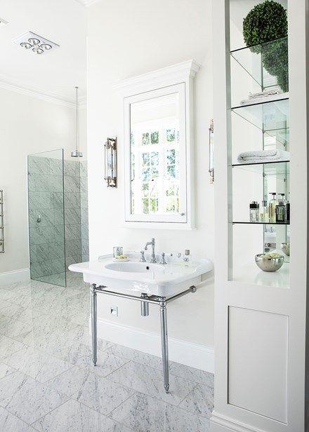 Elegant bathroom in Hamptons style - Home Beautiful