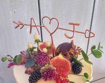 Rustic Cake Topper Wire Cake Topper Arrow & by LeRusticChic