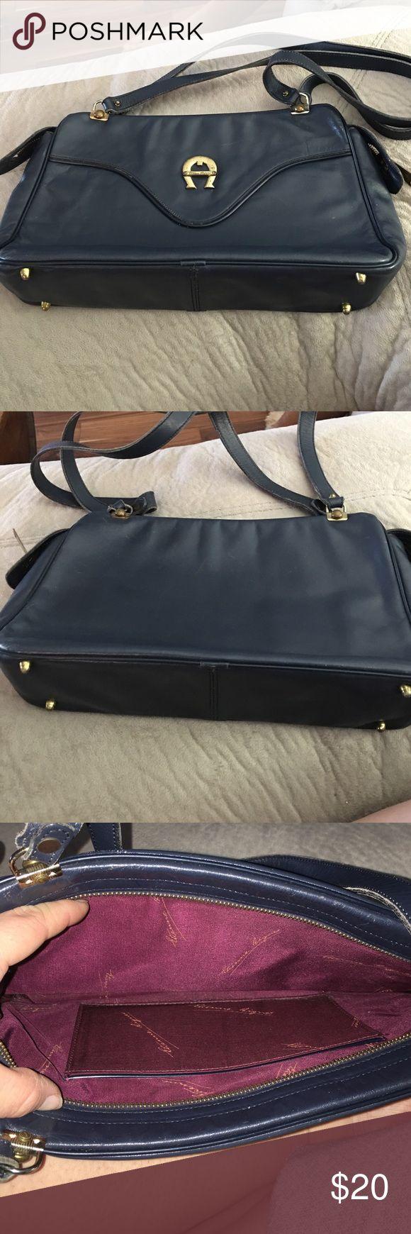 Etienne Aigner vintage Navy shoulder bag Vintage shoulder bag. Has some wear for the age. Great condition inside. Much life still left Etienne Aigner Bags Shoulder Bags