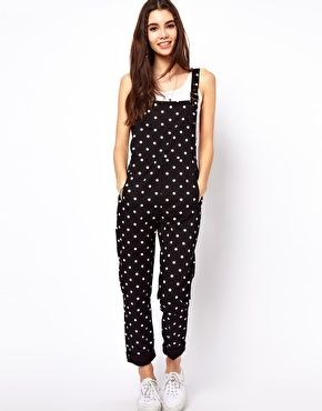 ASOS Spot Print Dungarees in Twill SOMEONE BUY ME THIS